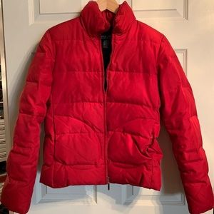 Red New York & Co bubble coat